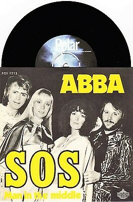 """ABBA - SOS / Man In The Middle - 7"""" Vinyl 45 - New & Unplayed"""