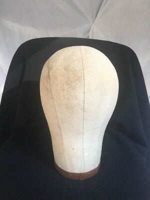 Vintage Millinery Cloth Canvas Mannequin Head Blocks Hat Wig Stand Makers Form 2