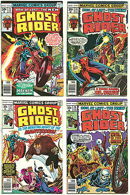 Ghost Rider #25 #26 #27 #28 FN 1977 Lot Set 4 Marvel Comics Bronze-Age Orb App