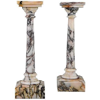 A pair of Antique 19th century French marble columns H. 11 inch.