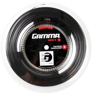 Gamma Moto 17 Black 200m 1,24 mm Tennissaiten Tennis Strings