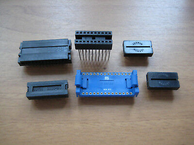PCB Connectors Ribbon Cable Links DIL DIP IC Lever Socket Holder