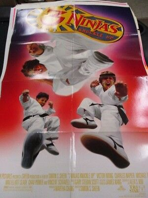 1 Sheet Movie Poster 3 Ninjas Knuckle Up 1995 Victor Wong Charles Napier Family