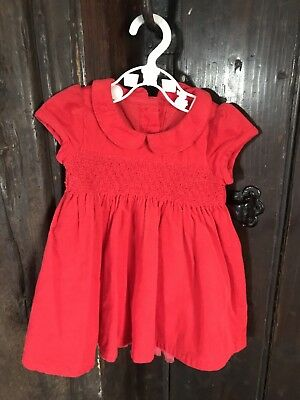 Seasonal Girls Red Christmas Red Party Dress. Worn Once. 0-3 Months m&s