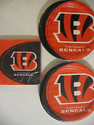 CINCINNATI BENGALS NFL FOOTBALL Party Supplies Includes Plates & Napkins NEW !