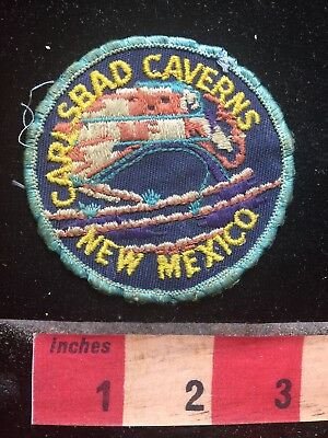 Quite Vintage Blue Border CARLSBAD CAVERNS NATIONAL PARK New Mexico Patch 75GG