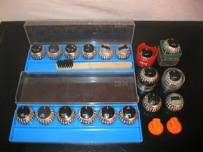 Lot x18 IBM GOLF BALL SELECTRIC MACHINE A ECRIRE TYPEWRITER Sphère d'Impression