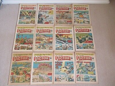 VICTOR COMICS X 12  From 1965,  Good/VeryGood condition/ WARLORD- Job Lot