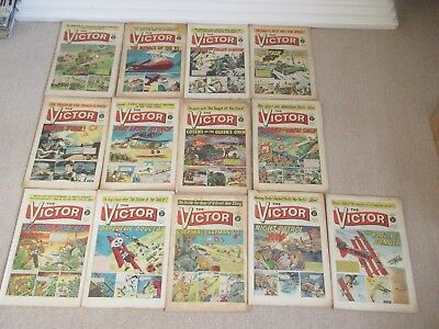 VICTOR COMICS X 13  From 1965,  Good condition/ WARLORD- Job Lot