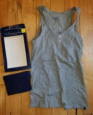 NWT Womens TOMMY HILFIGER 2 Pack Henley Tank Size Small S
