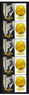 Jimmy Carter Nobel Peace Prize Strip Of 10 Stamps 4
