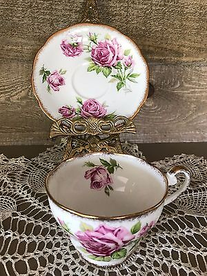 Royal Standard Orleans Rose Tea Cup and Saucer