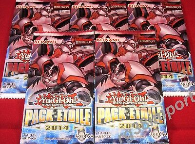 YGO - Lot de 5 BOOSTERS de 3 cartes YU-GI-OH - PACK ETOILE 2014 - VF