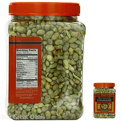 Healthy Snack Food Dry Roasted Edamame Lightly Salted 27 oz High Protein Non-GMO