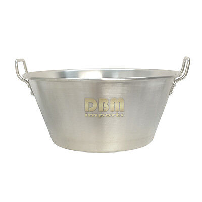 Stainless Steel Portable 16'' Cazo Caso Carnitas Flate Surface Large Cooking Pot