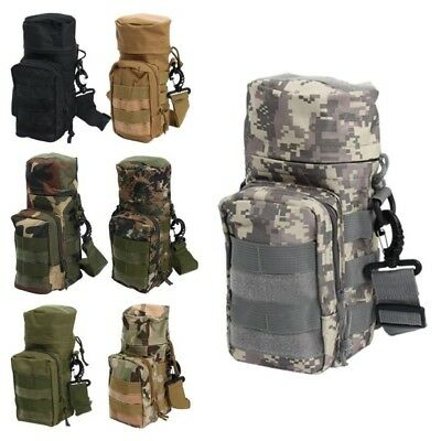 Militray Tactical Hiking Molle Zipper Water Bottle Hydration Pouch Bag Carrier