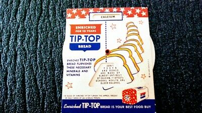 Tip Top Bread Know Your Vitamins and Minerals Advertising Give-Away from 1951