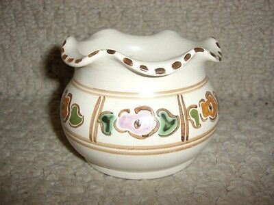 Lovely Honiton Pottery Vase / Fluted Pot Vgc