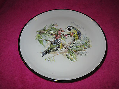Beautiful Purbeck Pottery Blue Tits 8 Inch Plate