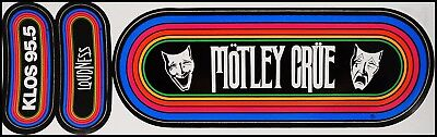Motley Crue / Loudness 80's KLOS Rainbow Concert Bumper Stickers Theater Of Pain