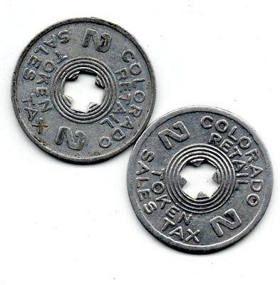 COLORADO *** Tax Token *** 2 Mill *** Pair (2) ***