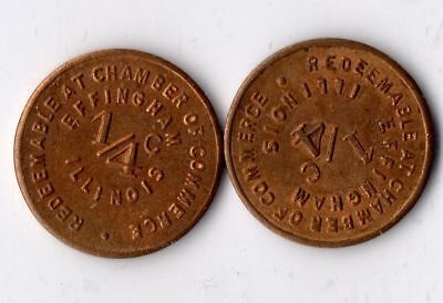 EFFINGHAM, ILL. : Pair of Tax Tokens : Lot: EF1