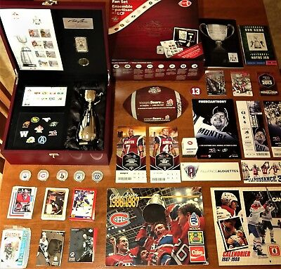LOT of Sports Collectibles, Coins, Stamps w/2012 Ultimate CFL Fan Collector Set!
