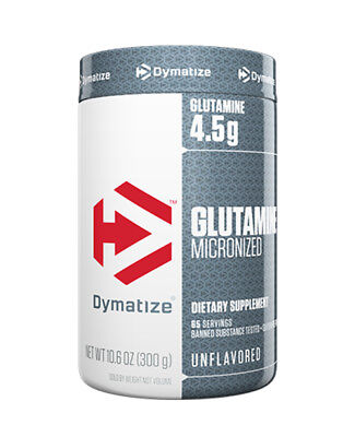 Dymatize GLUTAMINE Micronized 300g - 65 servings - Muscle Recovery, unflavored