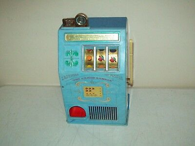 """Las Vegas one armed BANKER manual slot machine NOT FOR GAMBLING 10 cent """"toy"""""""