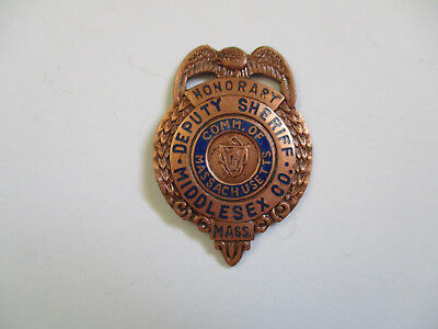 obsolete vintage Middlesex County Massachusetts Deputy Sheriff Police MINI badge