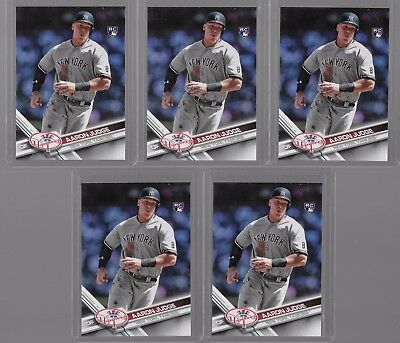Lot of (5) AARON JUDGE 2017 Topps #287 Variation SP Rookie RC New York Yankees
