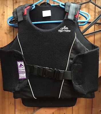 REDUCED Equitheme 2009 Adult Medium Body Protector. 2018 Rules Compliant