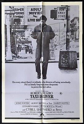 TAXI DRIVER Original One sheet Movie poster ROBERT DENIRO Martin Scorsese