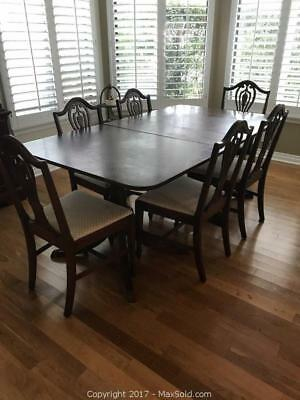 Duncan Phyfe Dining Room Table With 6 Chairs