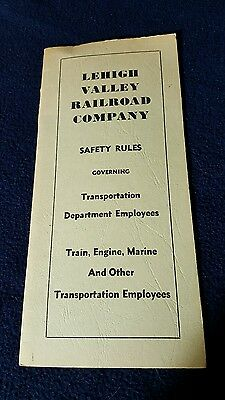 Lehigh Valley Railroad Safety Rule Book *91