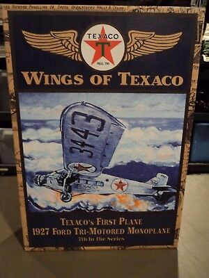 Ertl Wings of Texaco First Plane 1927 Ford Monoplane Die Cast Bank Tri-Motored