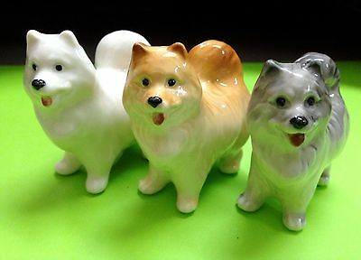 Samoyed porcelain figurines Dogs Souvenirs Russia Laika miniature Northern dogs