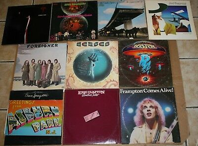10 CLASSIC ROCK Album Lot Springsteen, Clapton, Frampton, Boston, Steely Dan Aja