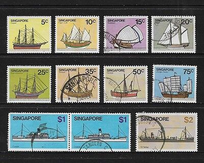 SINGAPORE - 1980 Ships, Boats, No.4, 10 of 13, used