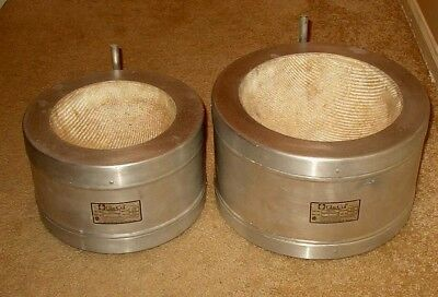 Two Glas-Col Heating Mantles  -  TM110 and TM114 for 2 and 5 liter flasks