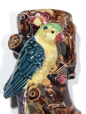 Vintage Parrot Bird Vase Wall Pocket
