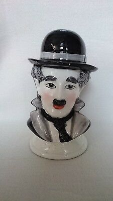 Charlie Chaplin Money Coin Bank Ceramic Huge, Extremely RARE