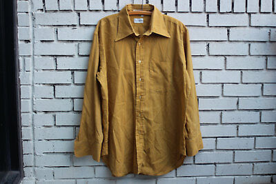 Vintage CALBY'S Yellow Striped Permanent Press Shirt