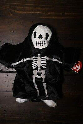 Ty Beanie Babies - Creepers Special Halloween Edition - Skeleton Ghost