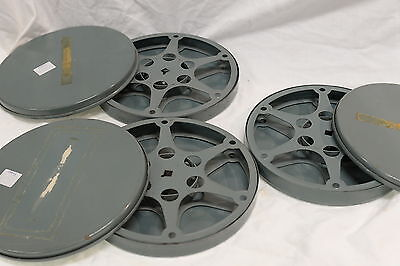 "7"" 16mm Film Take-up Spool with Metal Case - Metal Reel ( Movie Projector Type)"