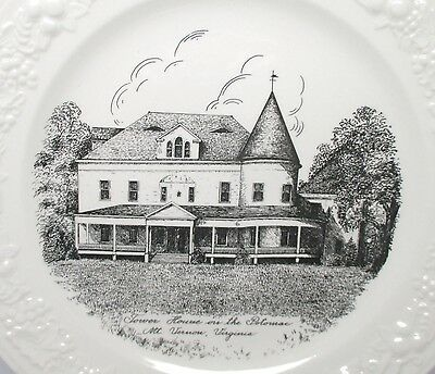 Tower House on the Potomac, Mt. Vernon, VA Souvenir Plate by Homer Laughlin 1946