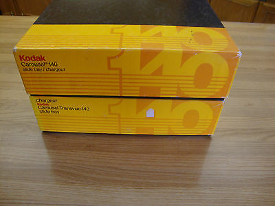 2 Kodak Slide Projector Carousel Slide Tray Hold 140 Slide Film.