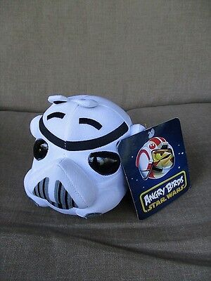 """Angry Birds Star Wars Storm Trooper 5""""  Tall Plush with Stars Wars Theme Sound"""