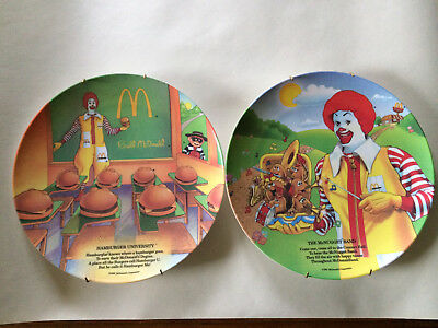 McDonalds Melamine Collector Plates McNugget Band and Hamburger University 1989
