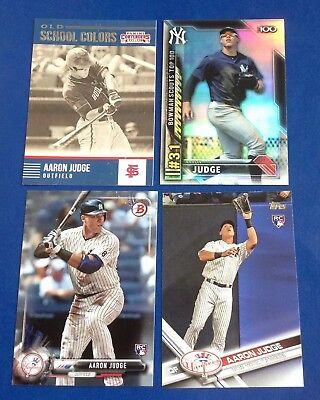Aaron Judge 2017 Topps Bowman Insert RC Card Lot Yankees
